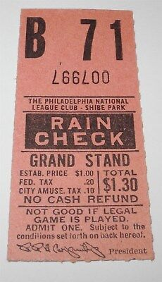 Ticket Stubs 100% Quality 1930's Philadelphia Phillies Baseball Ticket Stub Baker Bowl Ballpark V8