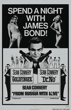 """JAMES BOND - SPEND A NIGHT WITH BOND - MOVIE POSTER 18"""" X 12"""" - SEAN CONNERY"""