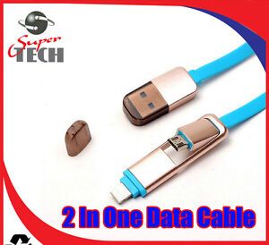 5-X-2-in1-Micro-USB-Sync-Data-Cable-De-Carga-Iphone-5-6-7-Android-HTC-Samsung