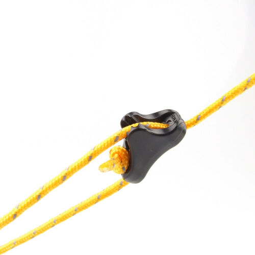10 Triangle Guy Line Cord Tightner Runner Camping Tent Awning Rope Tensioner S