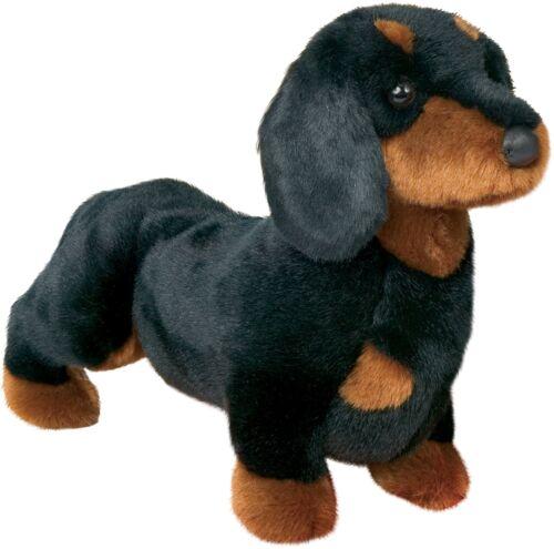 "Stuffed Spats Black and Tan Dachshund Dog 14/"""