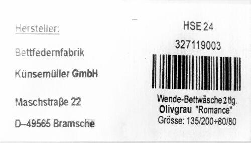"""Microfaser /"""" Romance/"""" HSE 24. Wendebettwäsche135x200 80x80 Bettwäsche 2-tlg"""