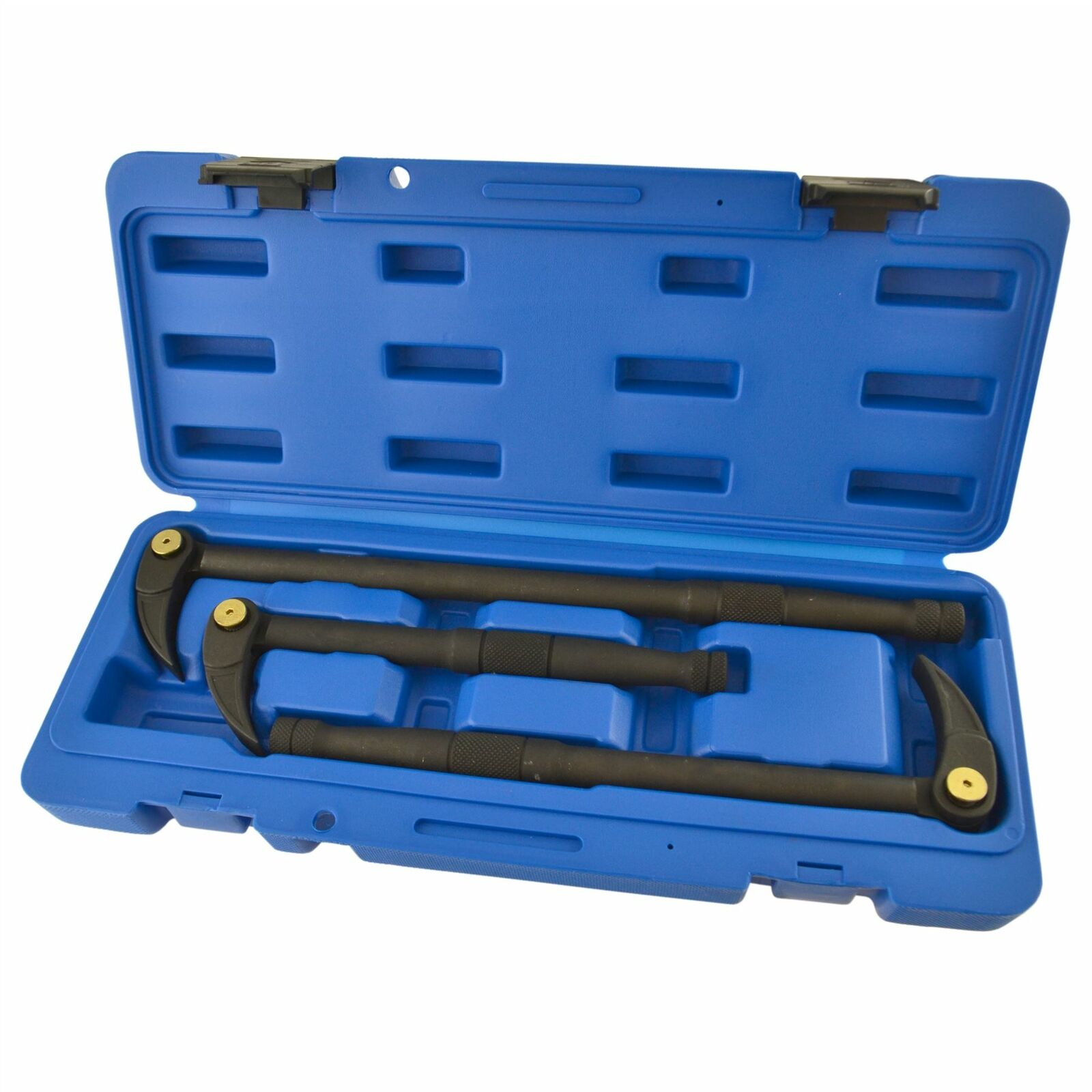 3pc Adjustable Pry Bar 10  12  15  Locking Crow Wrecking Bar Angle Foot TE855