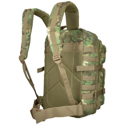 Mil-Tec 36L Large US Assault Patrol Tactical Backpack MOLLE Bag Arid Woodland