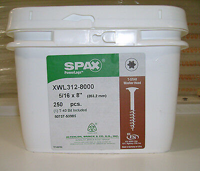 "Lot 25 8/"" Log Home Screws Spax XTM Wood Pancake Head Coated Steel Timber T-Star"