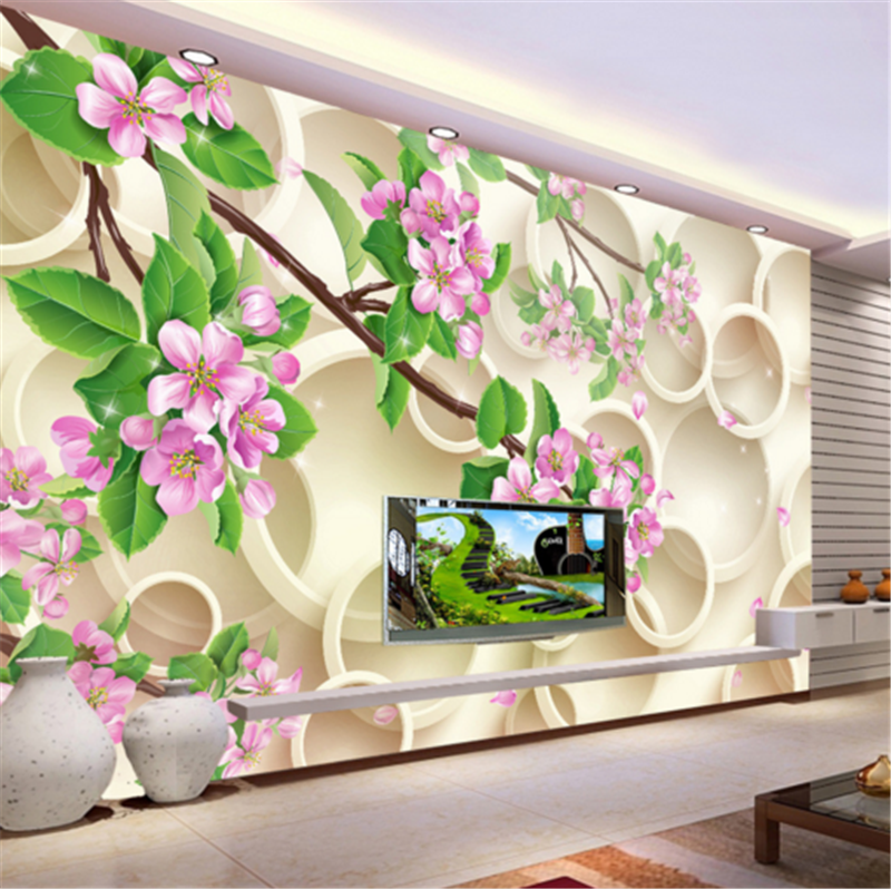 3D Flower Leaf Ring 814 Wallpaper Mural Paper Wall Print Wallpaper Murals UK