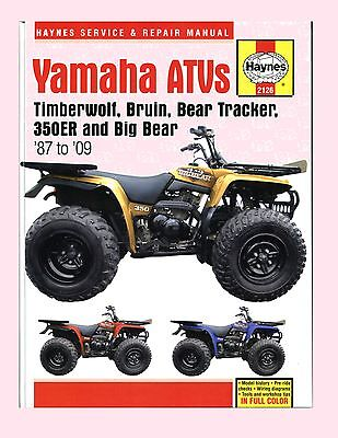 1987-2010 Yamaha Banshee Warrior Raptor 350 HAYNES REPAIR MANUAL