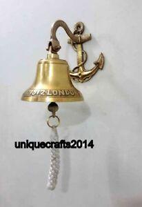 Handmade Bell Nautical Solid Brass Door Bell Vintage Sounding Wall Hanging Bell Ebay
