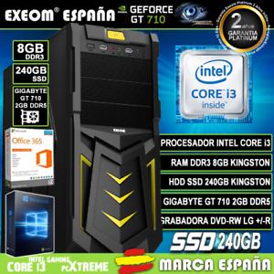 Ordenador-Gaming-Pc-Intel-i3-8GB-SSD-240GB-GT710-2Gb-Wifi-Sobremesa-Windows-10