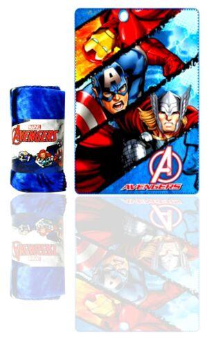 Avengers Kids Blanket,Marvel Hulk Thor Iron Man Blanket,Official Licenced