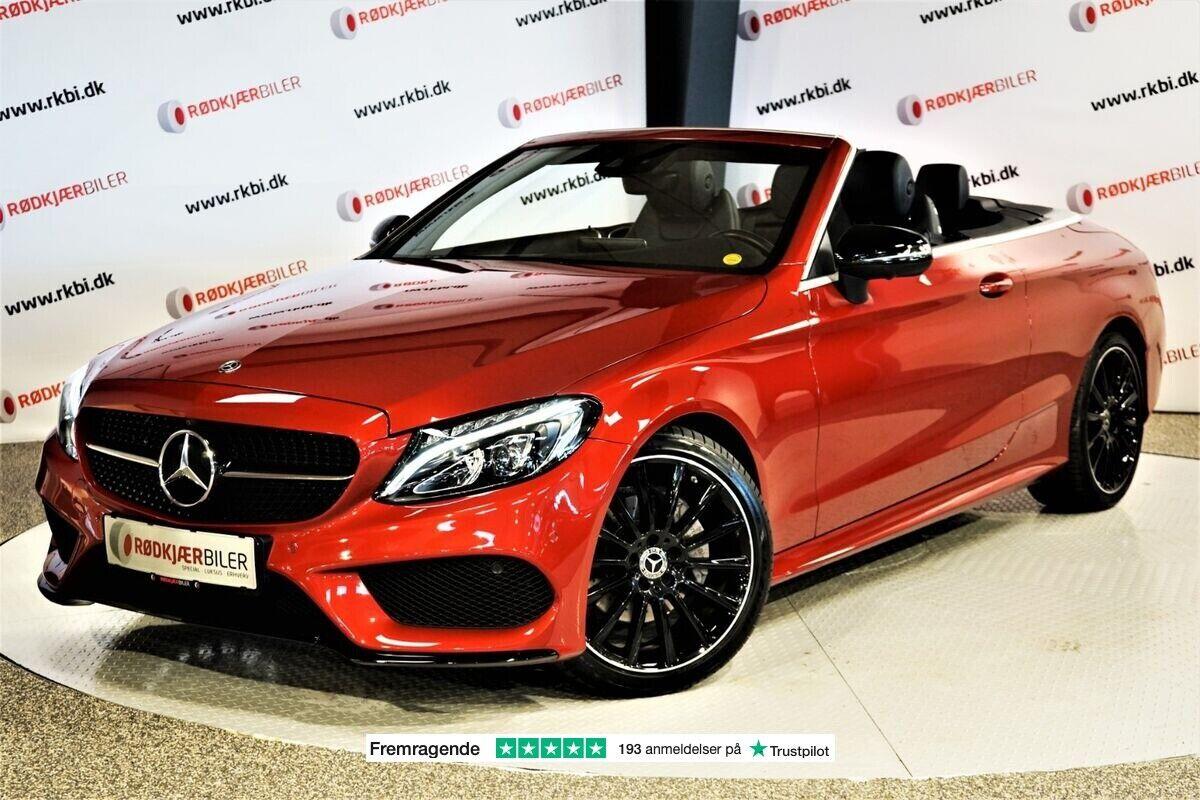 Mercedes C200 2,0 AMG Line Cabriolet aut. 2d - 229.000 kr.