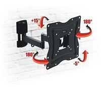TV Wall Mount Bracket Tilt Swivel HD VESA LCD LED PLASMA 13 18 26 32 37 40 42
