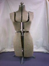 Vintage Fully Adjustable Dress Form Mannequin With Adjustable Metal Stand