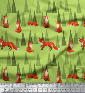 Soimoi-Fabric-Artistic-Tree-amp-Wolf-Animal-Print-Fabric-by-the-Yard-AN-566C