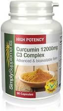 Curcumin (Turmeric) 12000mg C3 Complex 90 Capsules   Anti Inflammatory   Joints