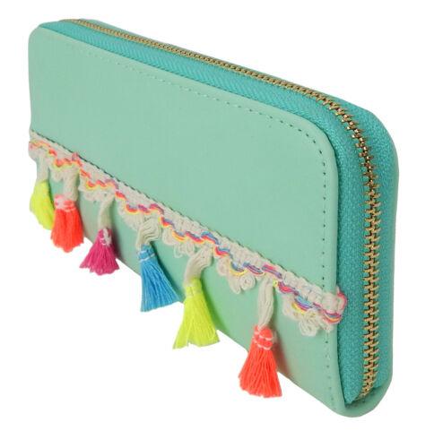 Ella Jonte Purse Green Mint Green Boho Ibiza Hippie Style Wallet Wallet