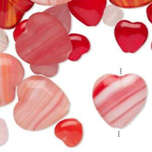 5542 Bead Red Pink Glass Mix Hearts Valentine 6//16mm 50g *UK  SHOP*
