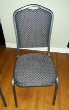 Stacking Banquet Chairflash Furniture Crown Backblack Patterned Fabricused