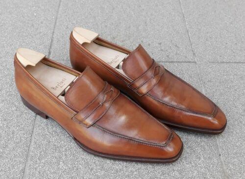 StefanoBi - BERLUTI .Tan hand patina penny loafer… - image 1