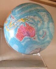 Blue Globemaster 12 Inch Floating World Globe Classic Raised Relief Acrylic Base