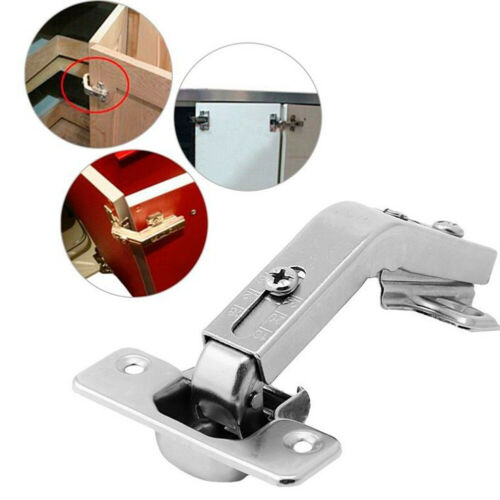 1Pc 135° Degree Cupboard Cabinet Hinge Kitchen Door Corner Folding Hinge Silver