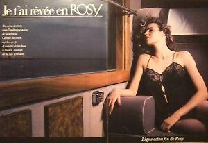 PUBLICITE-1995-JE-T-039-AI-REVEE-EN-ROSY-LIGNE-COTON-FIN-SOUTIEN-GORGE-ADVERTISING