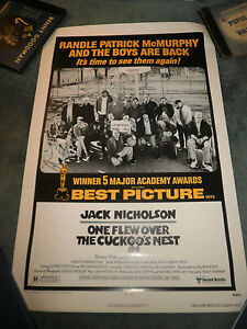ONE-FLEW-OVER-THE-CUCKOO-039-S-NEST-R-78-JACK-NICHOLSON-ORIGINAL-ONE-SHEET-POSTER