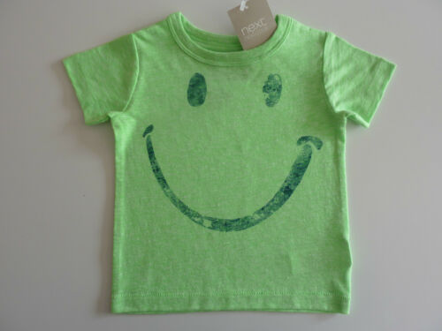 """NWT /""""YEAH/"""" on back NEXT Cute Little Lime Green Face T-Shirt"""