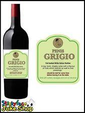 Funny Novelty Wine Penis Grigio Bottle Labels And Gift Bag Joke Humour