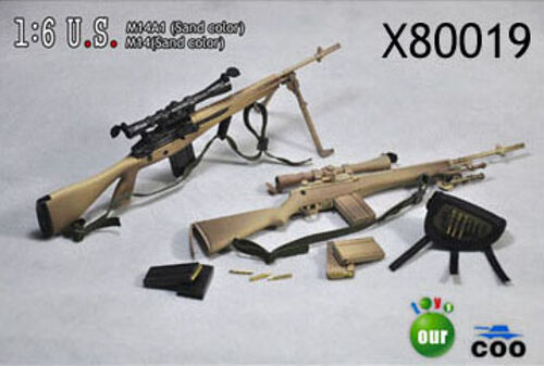 COO Models 1 6 Scale M14A1 Sand and M14 Sand Set