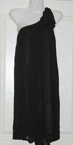 Womens-size-14-black-one-shouldered-short-shift-dress-made-by-TARGET