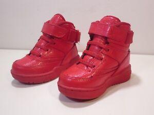 PATRICK-EWING-33-Hi-Toddler-Athletic-Sneakers-Boy-Size-6c-Red-Embossed-Kids