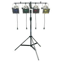 STAGE LIGHTING PACKAGE KIT PACKAGE PAR 56 300W x 4 INC STAND & CABLES BAND DJ