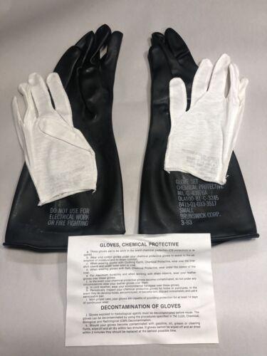 Brunswick Corp Chemical Protective Glove Set Type 1 8415-01-033-3517 Small NEW !