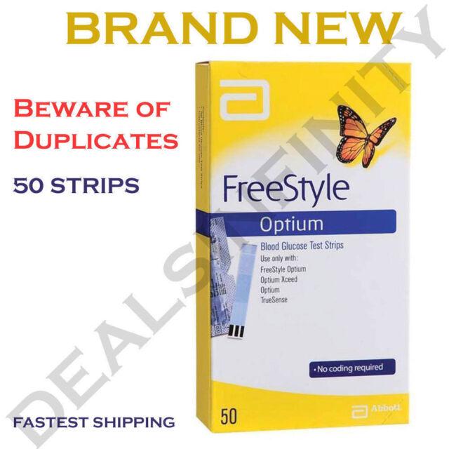 Buy Abbott Freestyle Optium 50 Blood Glucose Test Strips Online Ebay