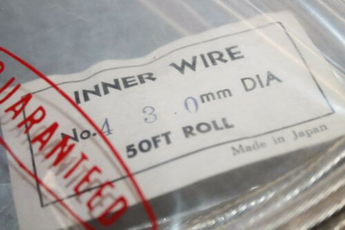 NOS Cherry 3mm Motorcycle Universal Inner Wire Brake Cable 50ft Soft Roll