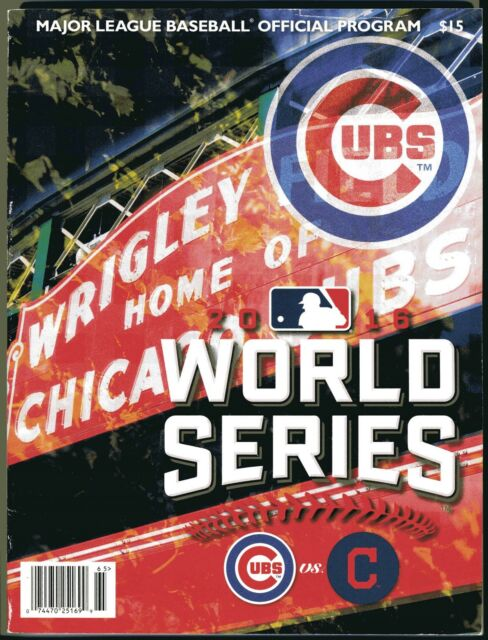 indians cubs cleveland mlb chicago program series baseball official wrigley field vs