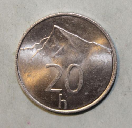Krivan Mountain Slovakia 20 Halierov 1994 Choice Uncirculated Aluminum Coin