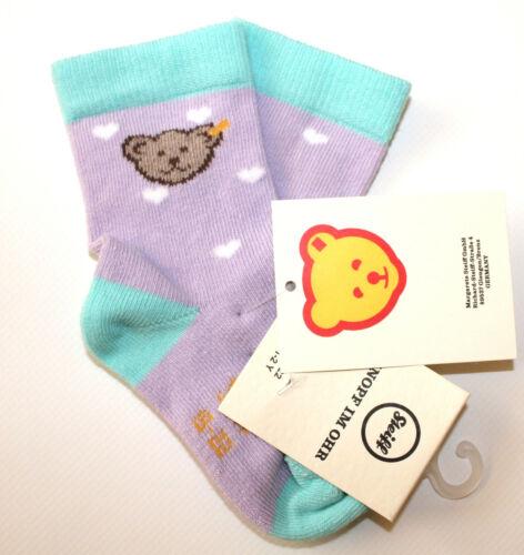 STEIFF® Mädchen Socken Söckchen Lila Herzen Bär 19-34 F//S 2019 NEU!