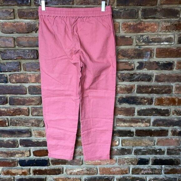 J. Crew Pink Linen Cotton Drawstring Pants Women'… - image 7