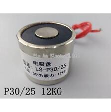 P30/25 Electric Magnet , Lifting 12KG Solenoid Electromagnet DC 6V 12V 24V 5W