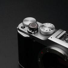 Gariz Sticker Soft Release Button XA-SB7 Sony Fuji Leica Canon Gun Metal Grey