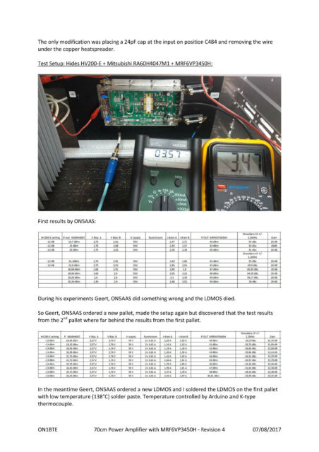 offering a very linear power amplifier pallet with original NXP MRF6VP11KGS