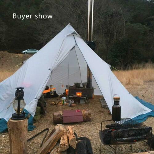 Camping Survival Hunting Winter Tent Teepee Pyramid With Stove Vent 4 Man Person