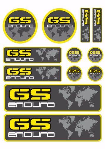BMW GS Enduro F800GS Decals Sticker Motorbike Graphic Set Vinyl Adhesive 12 Pcs