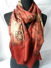 scarlet bijoux® XL SCHAL, TUCH, 50x180 cm, Paisley-Muster, rotbraun, NEU *034*
