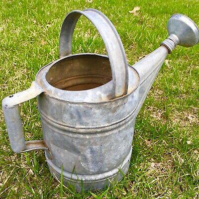 16 X13 Authentic Vintage Galvanized Zinc Metal Watering Can W Spout Garden Farm Ebay