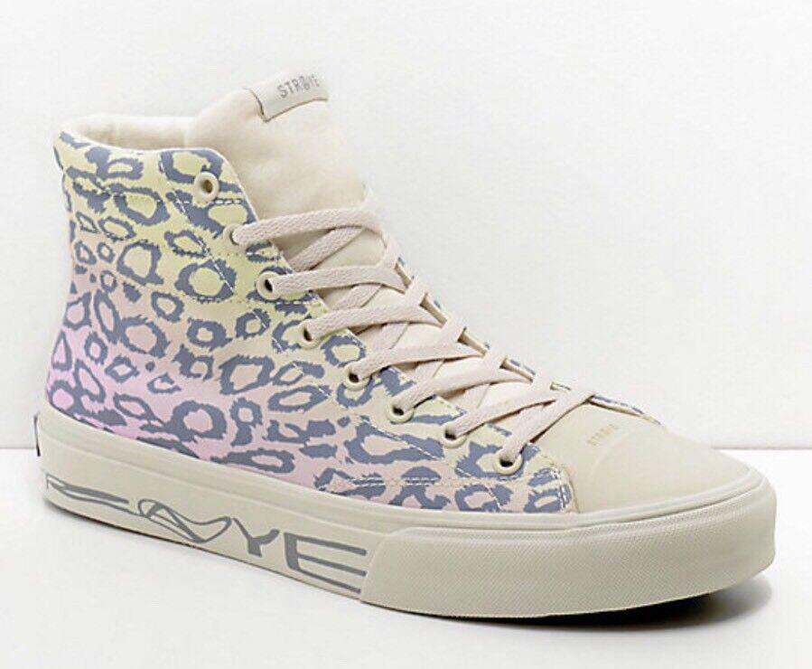 STRAYE Venice Rainbow 10.5 Cheetah Print Skate Shoes Size Mens 10.5 Rainbow Women's 12 971035