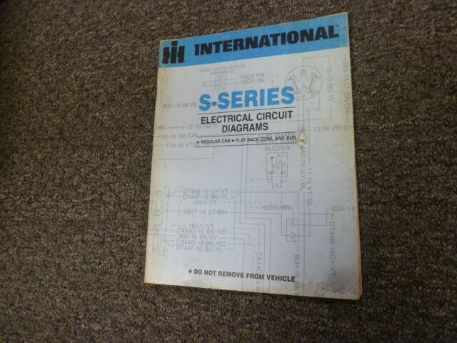 1988 International 2574 2575 2674 2675 Truck Electrical Wiring Diagrams Manual