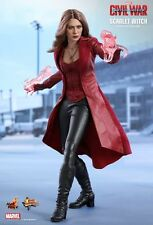 Scarlet Witch HOT TOYS 1/6 Figura (Capitan america guerra civile) Olsen UK MEGA VENDITA